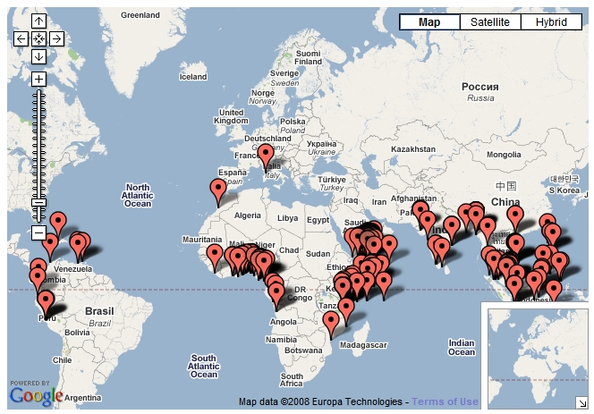 © ICC Live Piracy Map via Google Maps